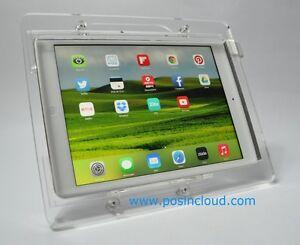 Ipad 2 3 4 Vesa Security Acrylic Enclosure W Stand For Pos