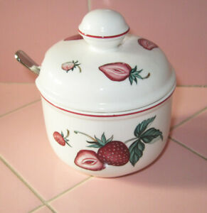 Villeroy Boch Malaga Jam Jelly Sugar Bowl W Vb Spoon - V Amp B Aufsatzwaschtisch Loop Amp Friends