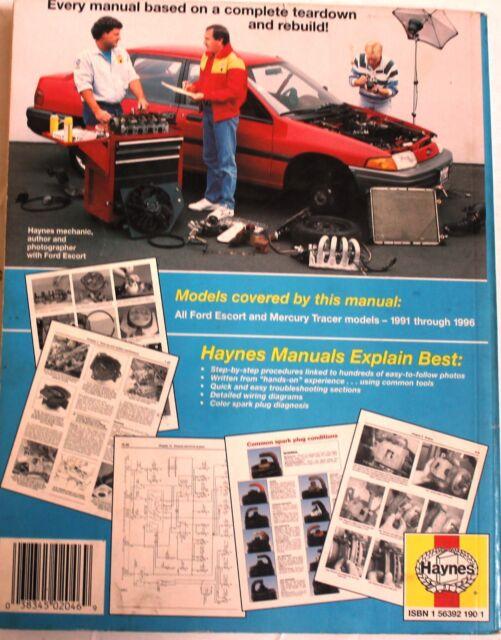 B268 Haynes 36020 Ford ESCORT  Mercury Tracer Service Manual 1991