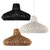 Round Rattan / Wicker Style Modern Ceiling Pendant Lamp ...