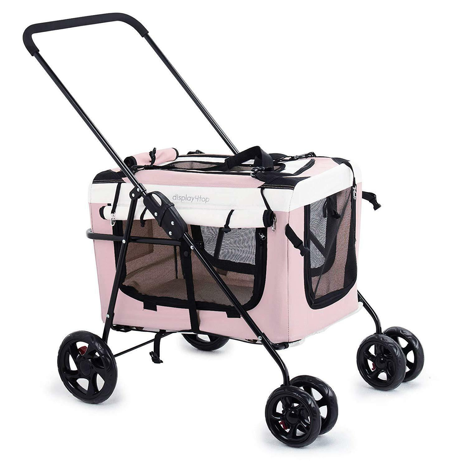 Travel Buggy With Sunroof Display4top Pet Travel Stroller Dog Cat Pushchair Pram