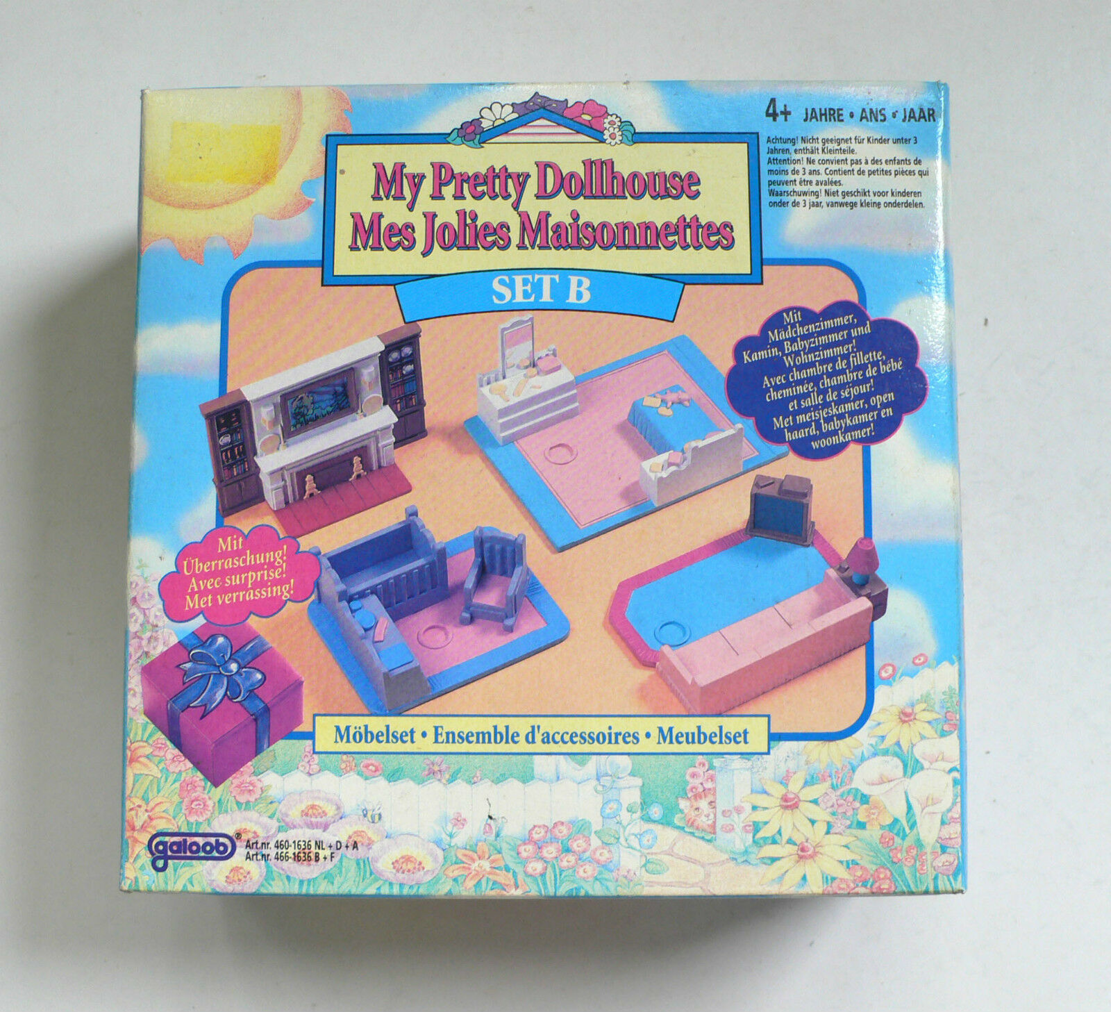 Horror Woonkamer Vintage Galoob My Pretty Dollhouse B Furniture Sets 1994 Set Misb