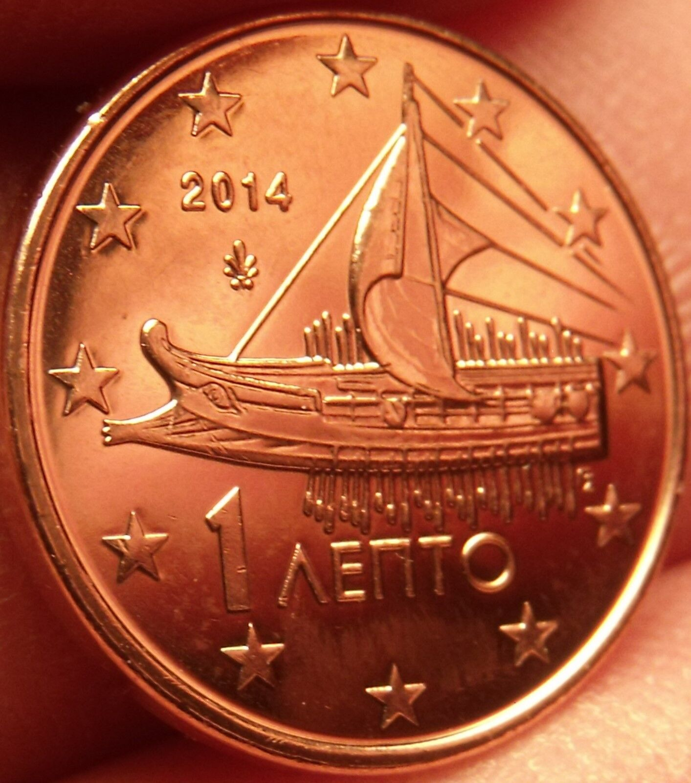 Ebay 1 Euro Gem Unc Greece 2014 1 Euro Cent Ancient Athenian Trireme Minted In Athens Fr Shi