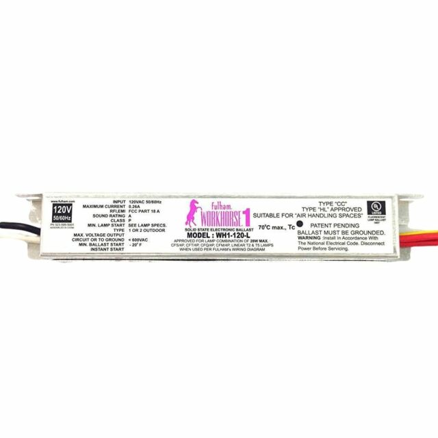 Buy Fulham Workhorse 1 Solid State Electronic Ballast Wh1-120-l
