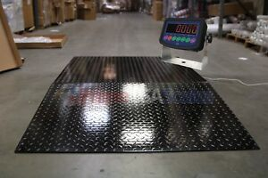 5x5 Floor Pallet Scale 5000 Lb With 60quot X 48quot Ramp For