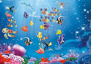 Ebay 3d Wallpaper Photo Finding Nemo Underwater Cartoon Full Wall Mural Photo