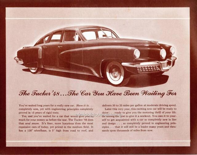 Old Print 1948 Tucker Car Brochure AD for sale online eBay