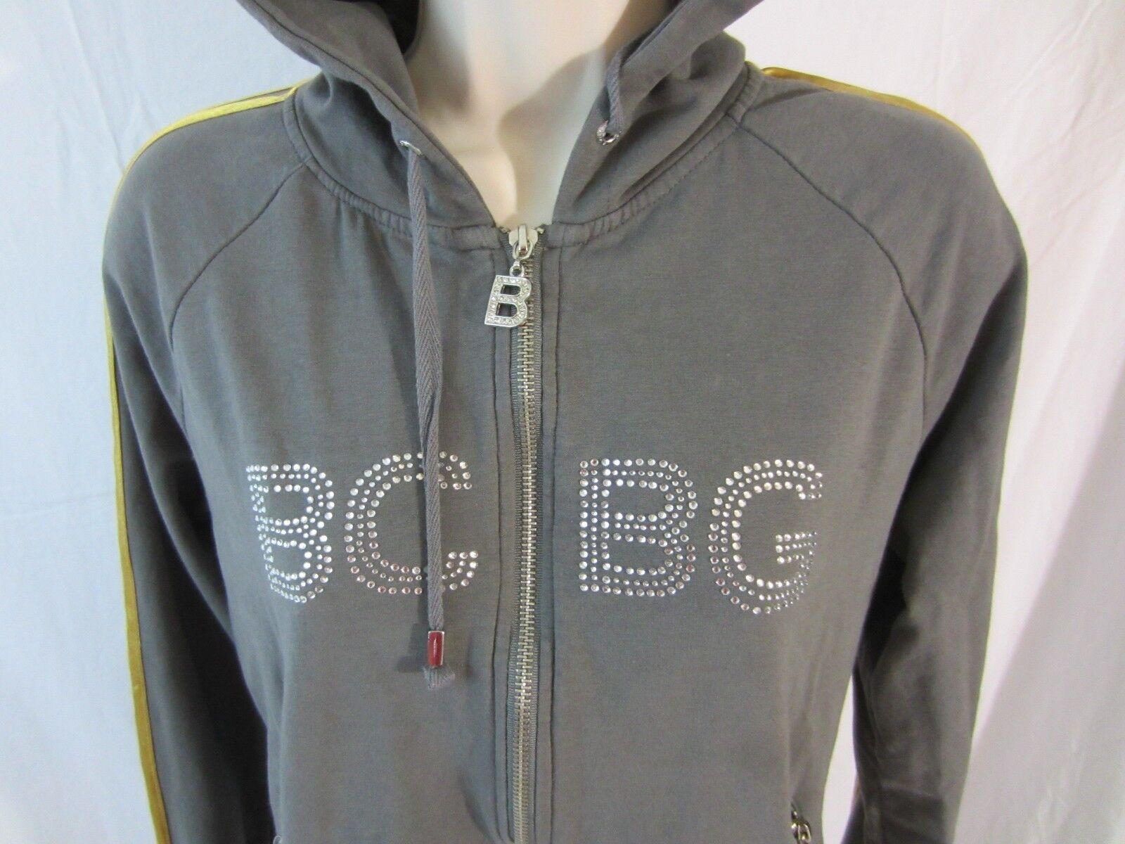 Bcbg Maxazria Zip Front Long Hooded Embellished Jacket