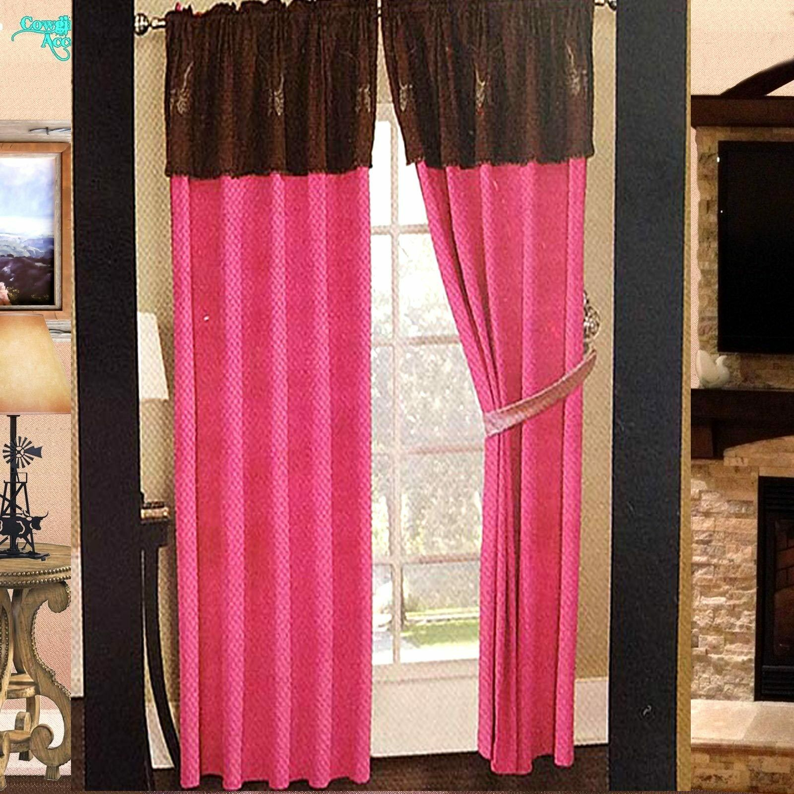 Vorhang Rosa Braun Luxury Western Angel Wings Design Embroidery Curtain