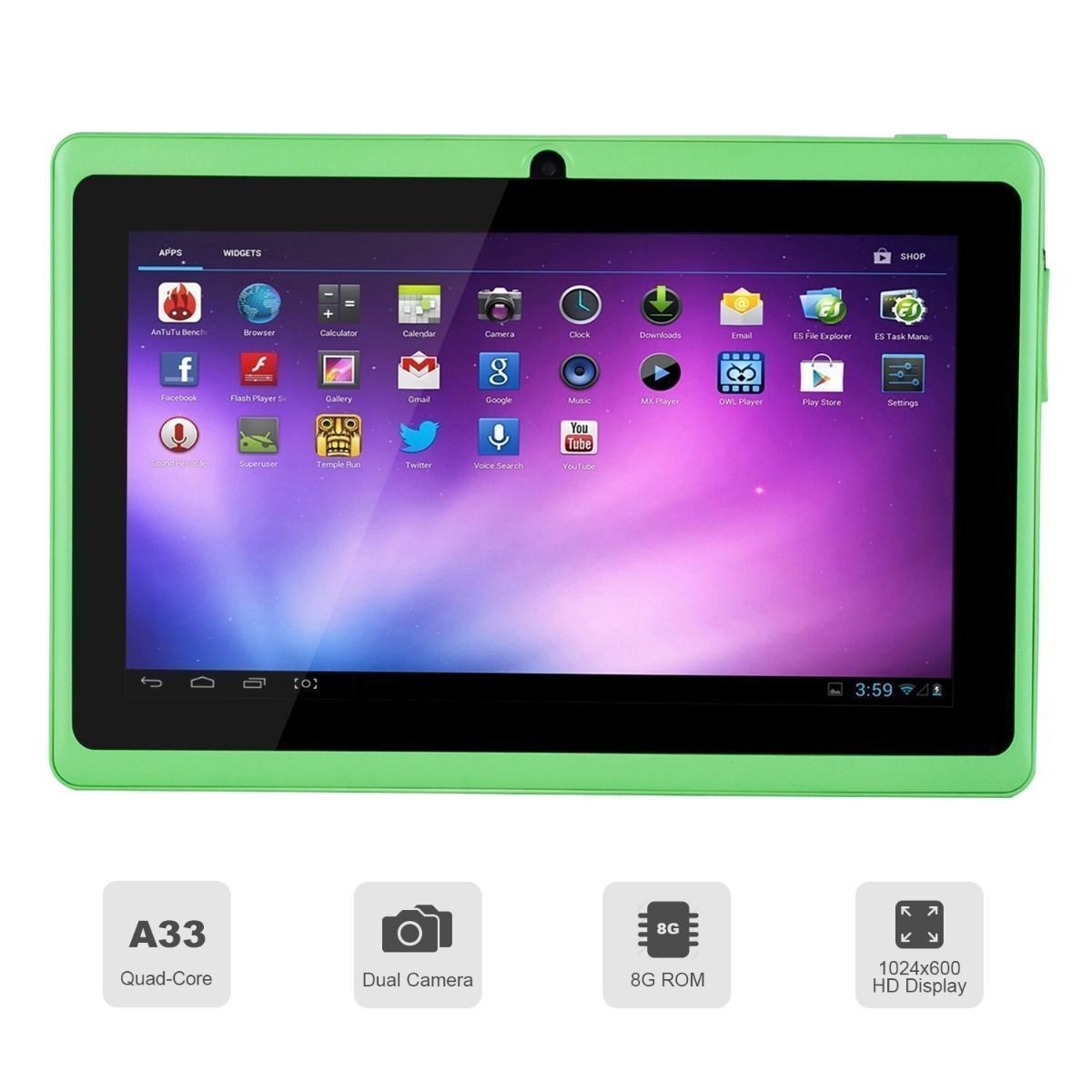 Tablet Pc 7 Quot Tablet Pc Quad Core Google Android 4 4 Kitkat 8gb Wifi
