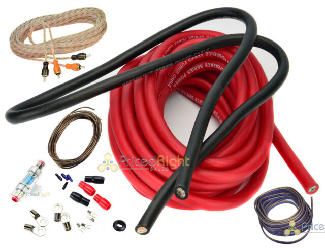 4 Gauge Amp Kit Amplifier Installation Power Wiring Complete Red