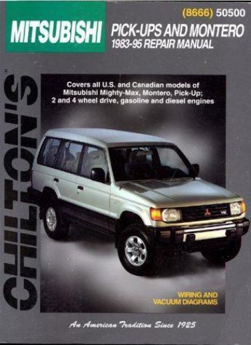 Total Car Care Repair Manuals Mitsubishi Pick-ups and Montero, 1983