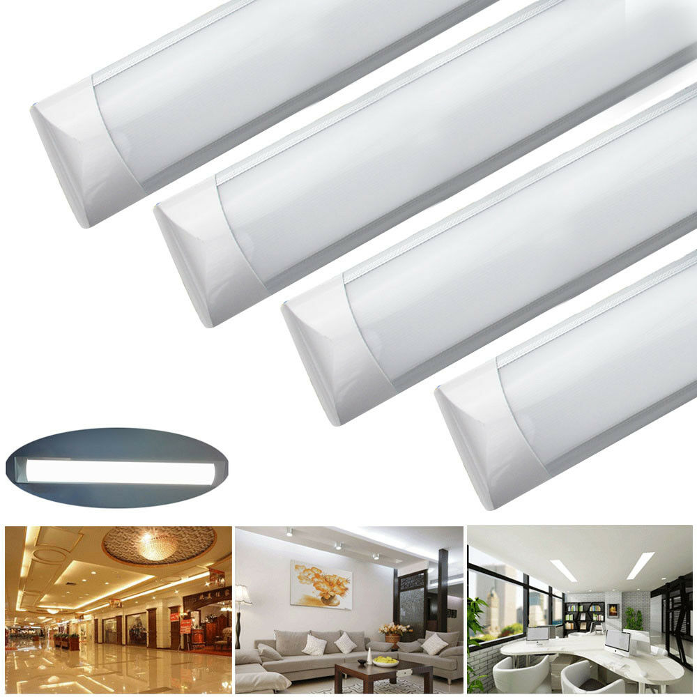 Fitting Lamp Gamma 20 10 2x 36w 1200mm 4ft Led Ceiling Tube Light Slimline Batten Panel Down Lamp