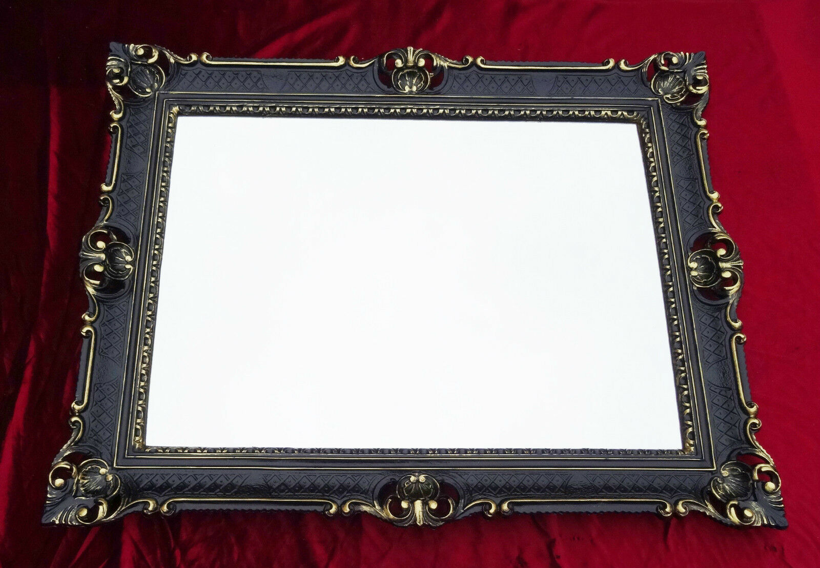 Couchtisch 90x70 Wall Mirror Black Gold Antique Baroque Rococo 90x70 Frame