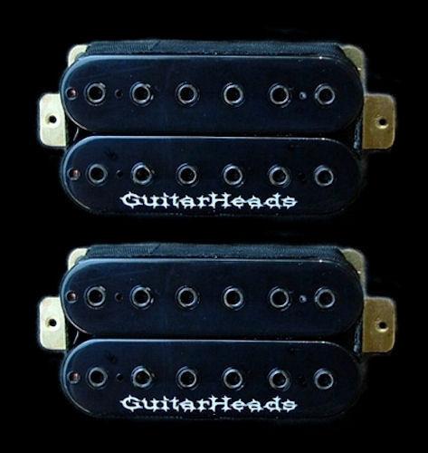 Guitar Parts Pickups HEXBUCKER Humbucker - Bridge Neck Set Black for