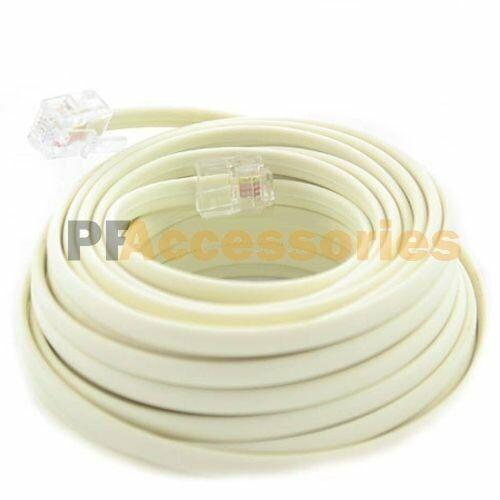 50 FT Feet Rj11 4c Modular Telephone Extension Phone Cord Cable Line
