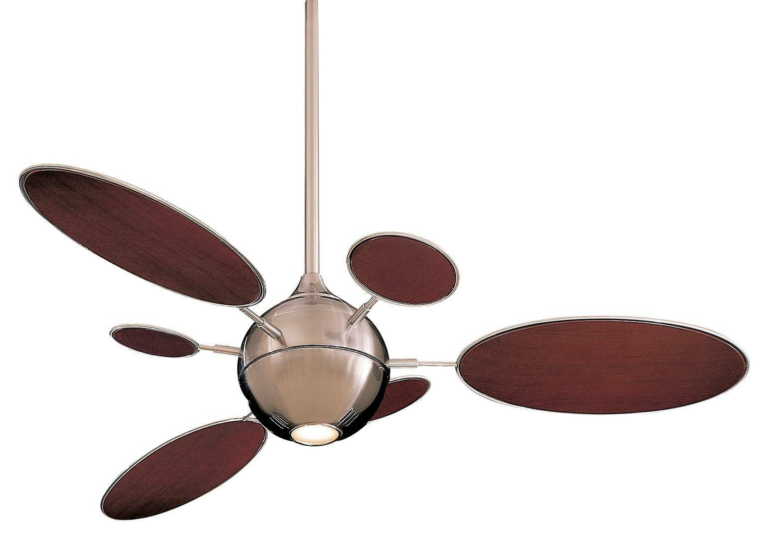 Contemporary Ceiling Fans Brushed Nickel Minka Aire F596 Bn Cirque Brushed Nickel 54 Quot Contemporary