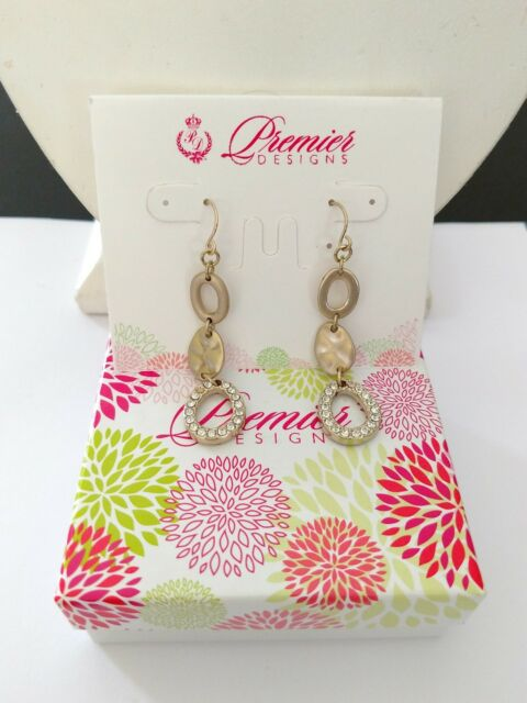 Premier Designs Jewelry GOLD RUSH Matte Gold Polished Fishhook
