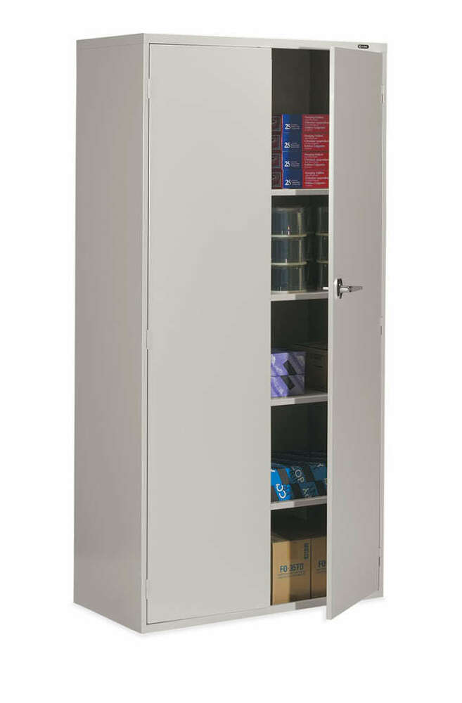 Armoire De Garage Pas Cher Metal Storage Cabinet Office Furniture | Ebay