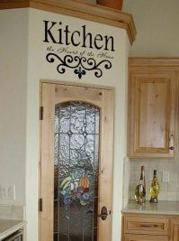 Kitchen Wall Quote Vinyl Decal Lettering Decor Sticky | eBay