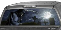 GRIM REAPER Cemetery Rear Window Graphic Tint Decal ...