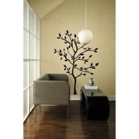 New Black TREE MURAL WALL DECALS Leaves & Branches ...
