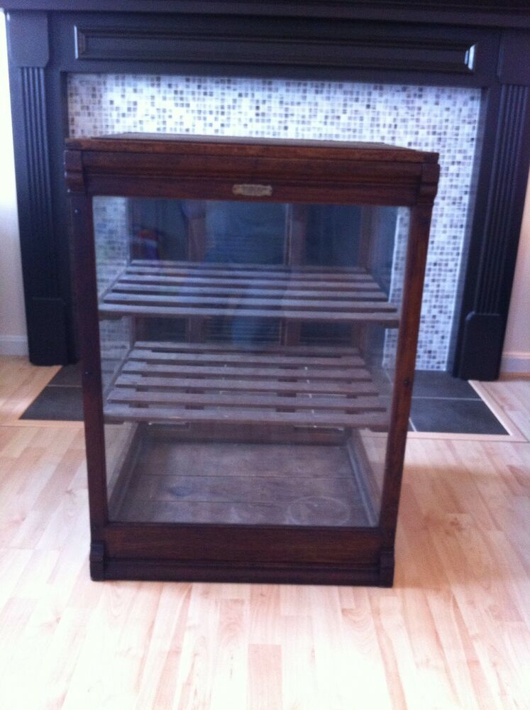 Antique General Store Display Cabinet Columbus Bakery