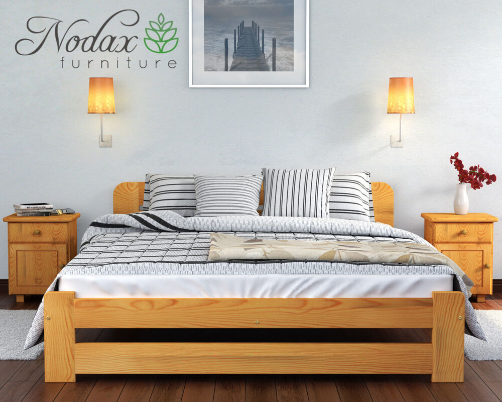 Wooden Furniture Solid Pine King Size 5ft Bed Frame One