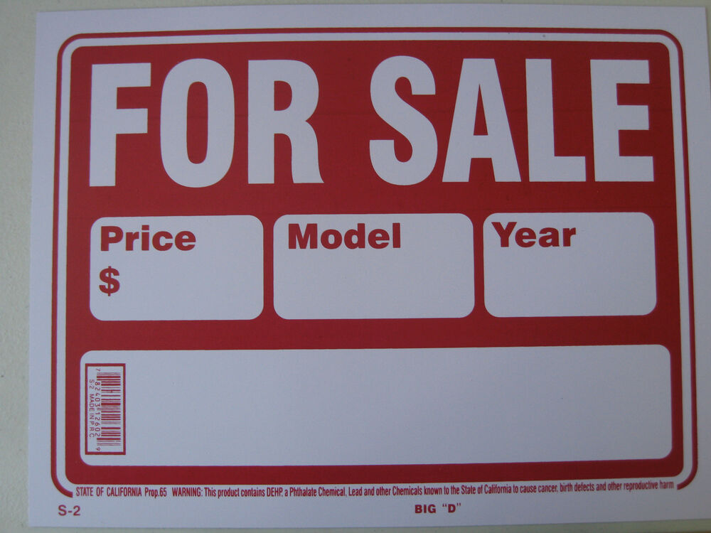 vehicle for sale sign 3slufsluidsprekers