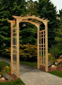 New England Arbors Decorative WESTWOOD CEDAR Garden Patio ...