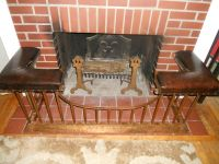 ANTIQUE ENGLISH CLUB FENDER FIREPLACE SEAT BENCH 1900 ...