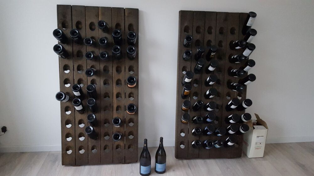 Very Old Champagne Riddling Rack For 60 Wine Bottles Big