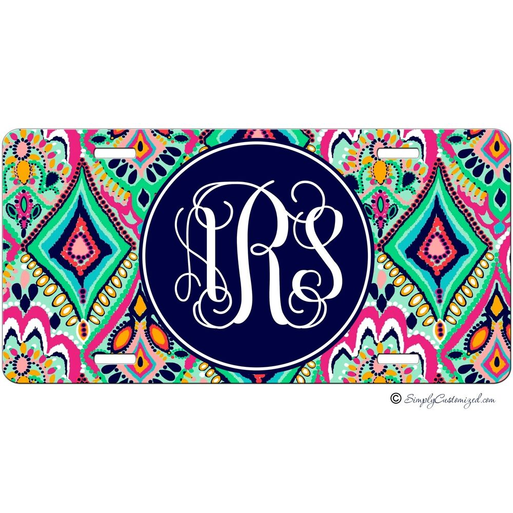 monogrammed car decals