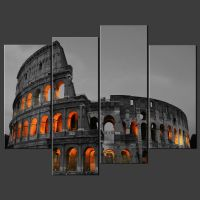 COLOSSEUM ROME ITALY CANVAS WALL ART PICTURES PRINTS ...