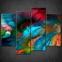 ABSTRACT COLOURFUL SPLIT CANVAS WALL ART PICTURES PRINTS ...
