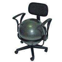 CanDo Metal Mobile Inflatable Ball Stabilizer Chair With ...