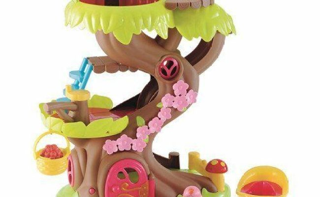 Elc Happyland Forest Fairy Dolls Treehouse Toy Set Kids