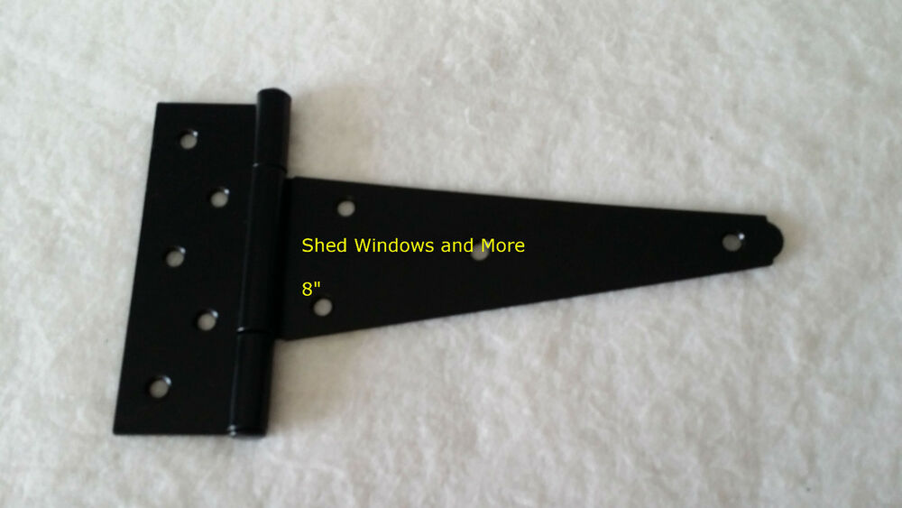 "Shed Door Hinges Shed T Hinge Heavy Duty 8"" Strap Hinge (3)Shed Door Barn Door Storage Windows 