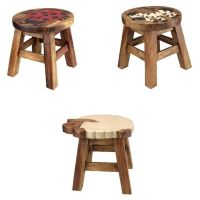 Kids Childs Small Wooden Stool Chair Seat with Hand ...