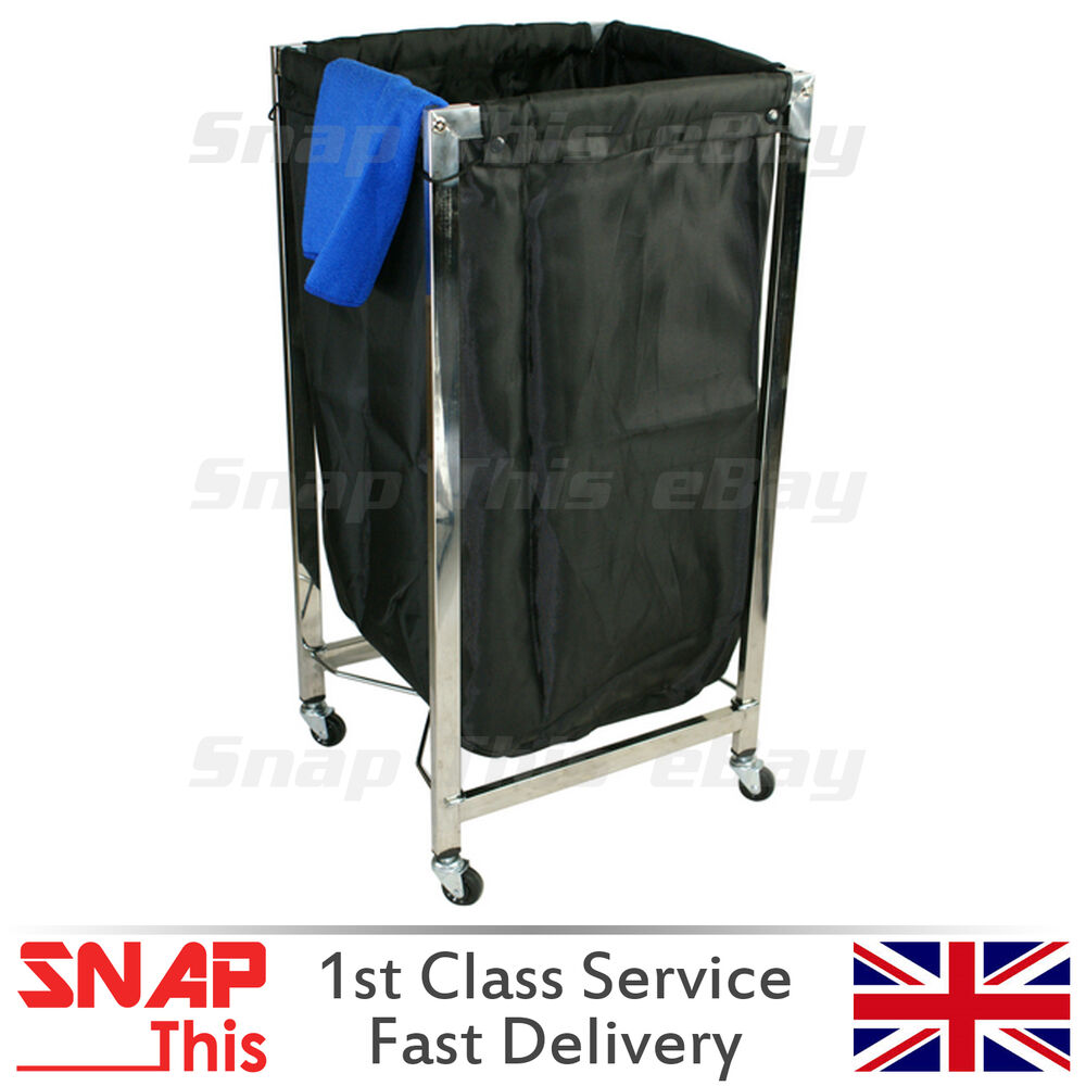 Salon Industrial Rolling Laundry Cart Salon Spa Towel Basket Hotel Housekeepers