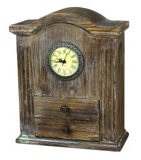 New Vintiquewise Vintage Style Wooden Desk Clock, QI003089