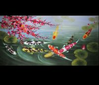 Japanese Koi Art Wall Art Framed Art Feng Shui Fish ...