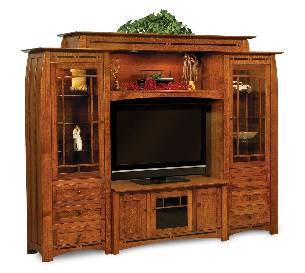 Entertainment Centers Amish Boulder Creek Wall Unit Entertainment Center Rustic