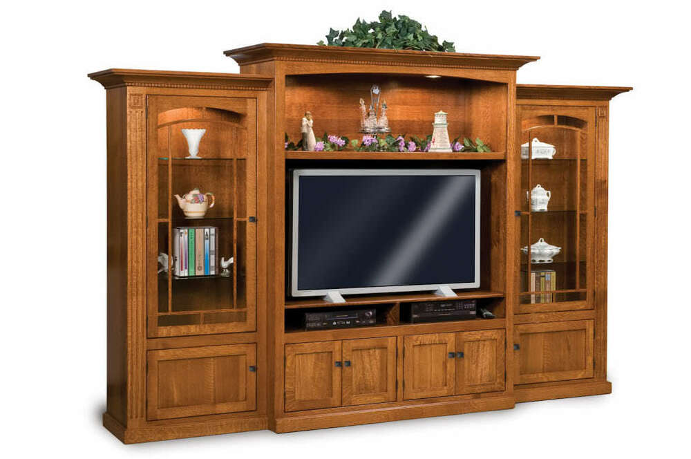 Media Schrank Amish Tv Entertainment Center Mission Wall Unit Solid Wood