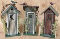 Rustic Outhouse Country Log Cabin Style Decor Primitive ...