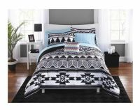 Twin XL College Girl Aztec Black White Southwest Style 6pc ...