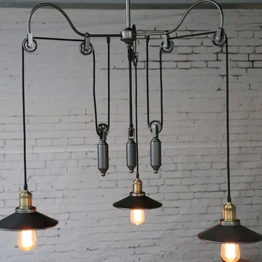 Industrial Hanging Lights Vintage Edison Industrial Chandelier Pendant Lights