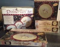 Royal Seasons Snowman Dinnerware 16 pc set + 3 Serving ...