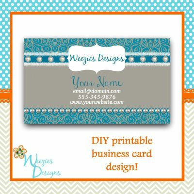 DIY Personalized Printable Business Card Design -You Print ...