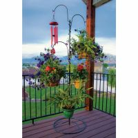 Outdoor Plant Stand Hanging Basket Holder Tree Flower Pot ...